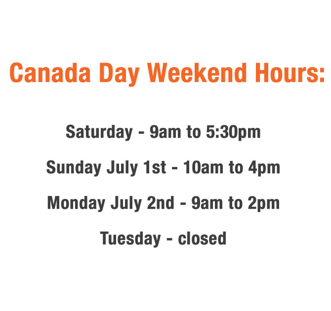 Canada Day Weekend Hours